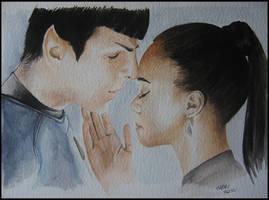 Spock and Uhura by SallyGipsyPunk