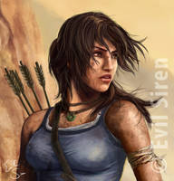 Lara Croft Tomb Raider Survivor Close UP by Evil-Siren