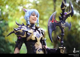Esumi Aoi FFXIV Dragoon Cosplay  greeny by Evil-Siren