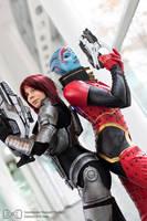 Samara and Shepard Cosplay Mass Effect Evil-Siren by Evil-Siren