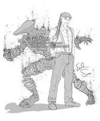 Sato and IBM Ghost - Ajin by Evil-Siren