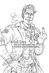 Handsome Jack Borderlands - Evil-Siren by Evil-Siren