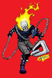 Ghost Rider Sketch + Color by RobsonInk