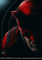 Marvel`s Daredevil  by Gino Descalzi by Dreamgate-Gad