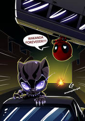 Panther's fan  By Gad by Dreamgate-Gad