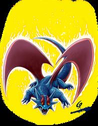 Salamence using Fury copia by Dreamgate-Gad