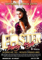 Easter Party Flyer by AticcaDesign