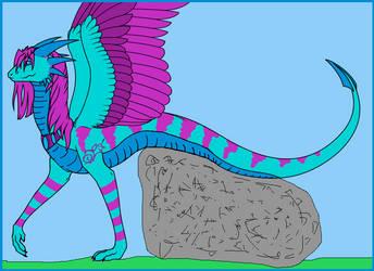 Sassy Dragon - Feathered Serpent form by SassyDragon18