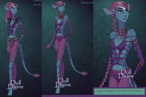 Sassy Dragon -  Na'vi Girl form by SassyDragon18