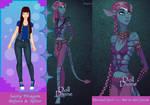 Sassy's BeforeAfter- Normal Girl n Na'vi Girl form by SassyDragon18