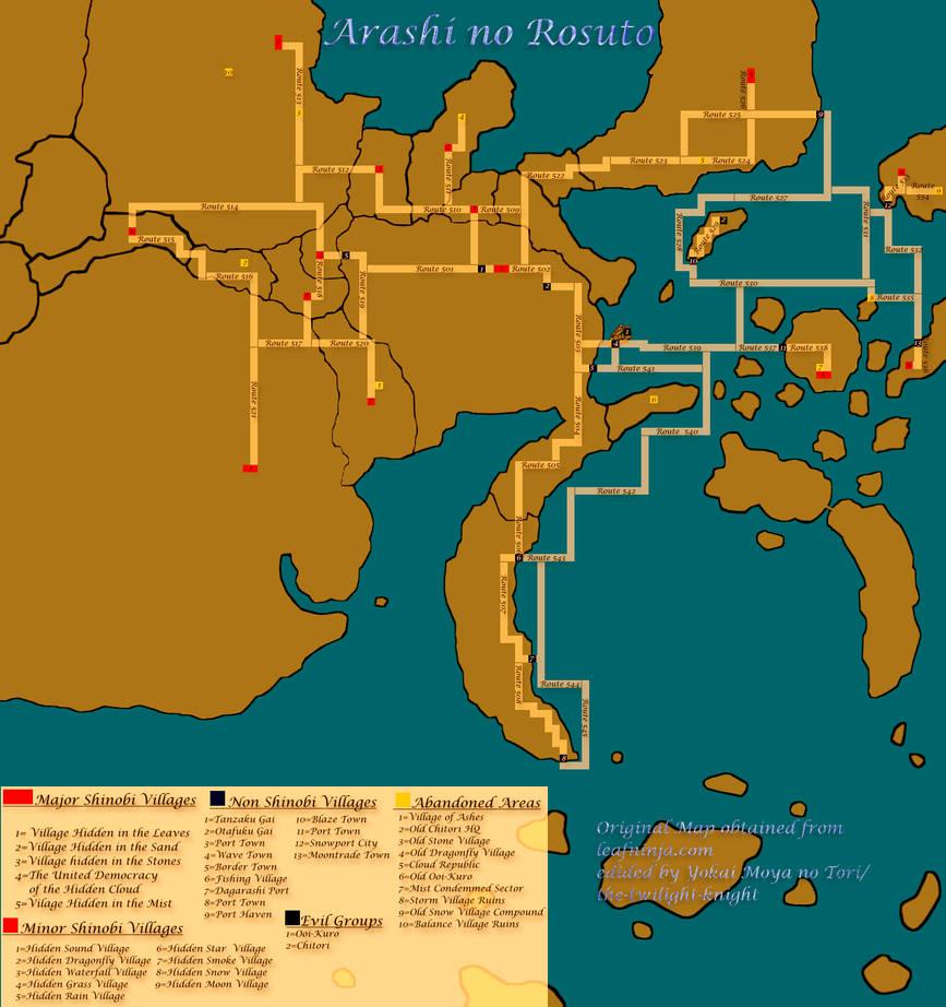 Detailed Naruto World Map   Komik terbaru