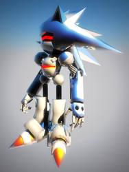Mecha Sonic MKIII by StreakThunderstorm