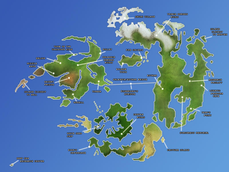 Ffviii World Map By Insanityassassin On Deviantart