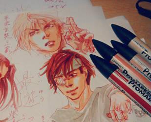 Saiyuki colored thingy by Akagitaa