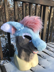 Kyra Fursuit Head by Ariokkii