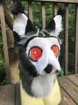 White-Faced Owl Gryphon Head by Ariokkii