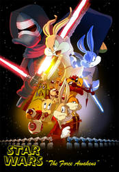Looney Tunes Star Wars The Force Awakens by andrewk