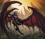 Night elf Demon Hunter by VanHarmontt