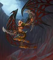 Blood elf Demon Hunter by VanHarmontt