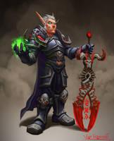 Blood elf DK by VanHarmontt