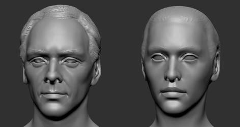Head sculpts by serpentdoness