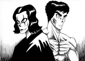 Fanart- Bruce Lee and Brandon Lee by Rayaroja