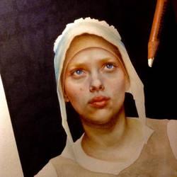 Scarlett Johansson - Girl with a perla earring by lucyana12345