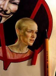 Natalie Portman - V for Vendetta, detail by lucyana12345