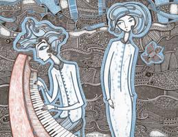 El piano y el ave by visionarioazul