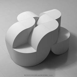Sculpture Curved Cubes 02 by monochromeandminimal