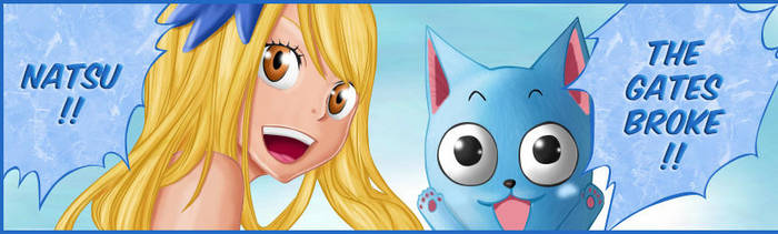 Lucy and Happy  Fairy Tail 366 by spidyy