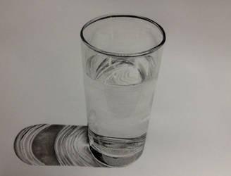 Glass of water by AdamWien