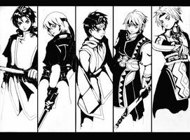 suikoden heroes by HikariShuyo