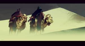 2 camels by mir-ahmad