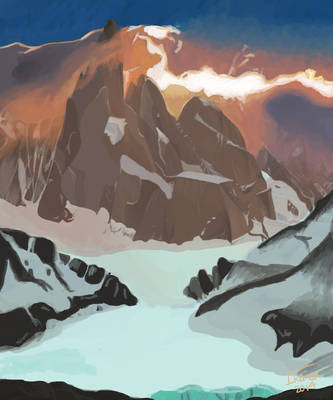Golden Mountains by Ikarex