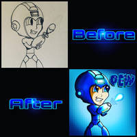 Before and After Megaman by shunter071