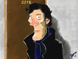 Quick Sherlock Caricature by sonu9