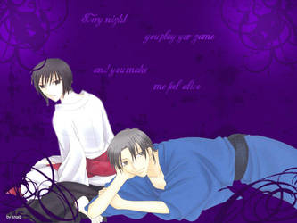Wallpaper Akito and Shigure by fleckenfurz19