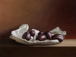 Wrapped Plums by m-v-c