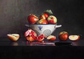 Still Life with Pomegranate by m-v-c