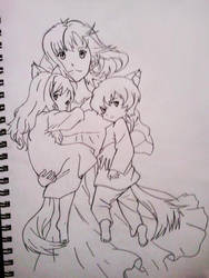 Wolf Children Inked by obsessive-fan-girl