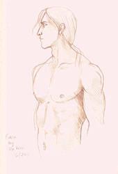 Ezio drawn by Da Vinci 3 by Risvani