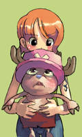 nami and chopper by milkybee