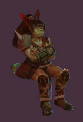 orc-chan by milkybee