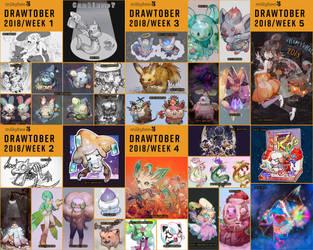 Pokemon 2018 Drawtober compilation by milkybee