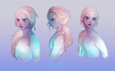 Elsa Study by Y0Y0Sketch