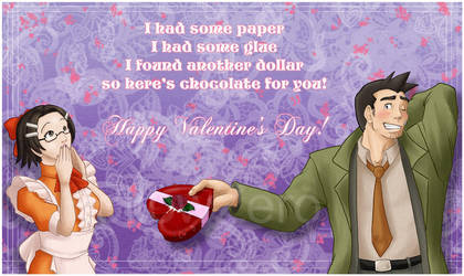 Gumshoe and Maggey Valentine by hollowzero