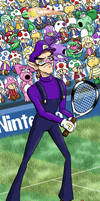 Waluigi Tennis by hollowzero