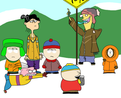 The Eds at South Park by AfroOtaku917