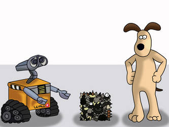 WALL-E and Gromit by AfroOtaku917